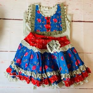 girls mustard pie boutique ruffle outfit size 10